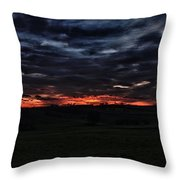 Stormy Sunset Throw Pillow by Miguel Winterpacht