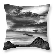 Stormy Sunset Over Nevada Desert Throw Pillow
