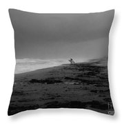Stormy Surf Spot Throw Pillow