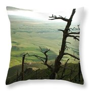 Stormy Tree Throw Pillow