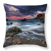Stormy Winter. Throw Pillow