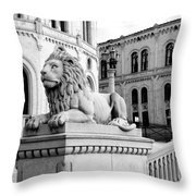 Stortinget Parliament Building Oslo Norway Throw Pillow