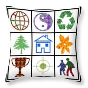 Story Line Happy Couples Happy Homes Focus Award Reward Green Balance Growth World  Signature Style  Throw Pillow
