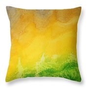 Stormy Mesa Original Painting Throw Pillow