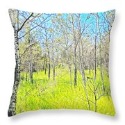 Storybook Aspens Throw Pillow