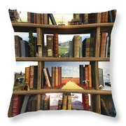 Storyworld Throw Pillow by Cynthia Decker