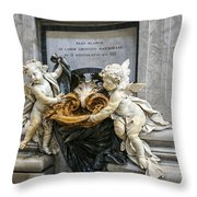 Stoups At The Basilica Throw Pillow