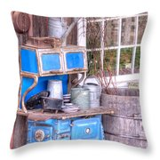 Stove  Appliance Cooker  Kitchen  Antique Throw Pillow