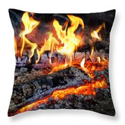 Stove - The Yule Log  Throw Pillow