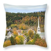 Stowe Vermont Aerial Throw Pillow