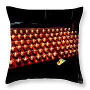 St.patricks Cathedral Candles Throw Pillow