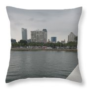 St.petersburg Bayfront From Pier Throw Pillow