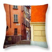 Strada Al Duomo Duomo Street Throw Pillow
