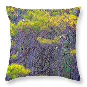 Straggly Pines Throw Pillow
