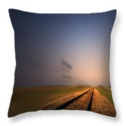 Straight As A Rail 02 Throw Pillow
