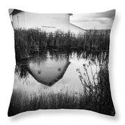 Straight Faced Throw Pillow