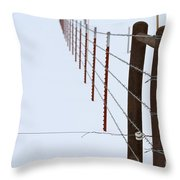 Straight Line Fence Throw Pillow