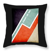 Straight Line Here Throw Pillow