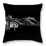 Straight Lines And Circles Throw Pillow