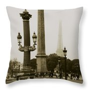Straight Lines In Paris Throw Pillow