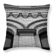 Straight Up Perspective - Black And White Throw Pillow