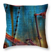 Strained Gears  Throw Pillow