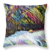Straits Of Dover Throw Pillow