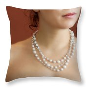 Strand Of Pearls Throw Pillow by Margie Hurwich
