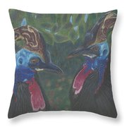 Strange Birds Throw Pillow