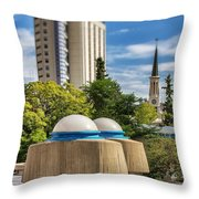 Strange Buenos Aires Architecture Tilt Shift Throw Pillow
