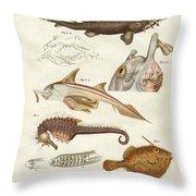 Strange Cartilageous Fish Throw Pillow