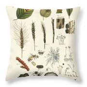 Strange Dusty And Thread Fungus Throw Pillow