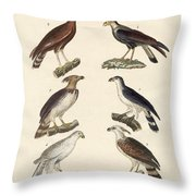 Strange Eagles Throw Pillow