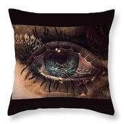 Strange Eye Throw Pillow