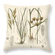 Strange Grasses Throw Pillow