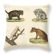 Strange Marsupials Throw Pillow