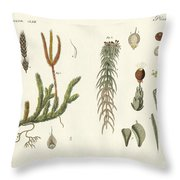 Strange Mosses Throw Pillow