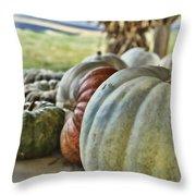 Strange Pumpkins Throw Pillow