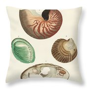 Strange Snails And Clams Throw Pillow