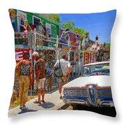 Strange Stop At Seligman Throw Pillow