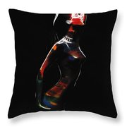 Strange Woman Throw Pillow