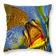 Strangely In A Starry Land Throw Pillow