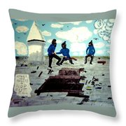 Strangeways Prison Riots Uk.1990s Throw Pillow