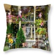 Strasburg Flower Shop Throw Pillow