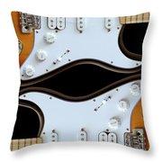 Electric Guitar 5 Throw Pillow