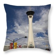 Stratosphere Tower In Las Vegas Throw Pillow
