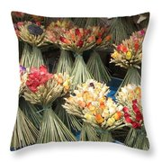 Straw Bouquets Throw Pillow