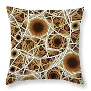Straw Mosaic Throw Pillow