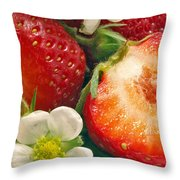 Strawberries And Vanilla Throw Pillow