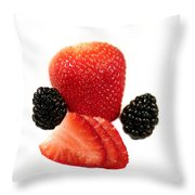 Strawberry Blackberry Throw Pillow